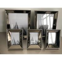 Set van 5 - spiegelfotolijsten met standaard - brons