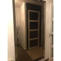 Spiegel met spiegelrand - brons 210x110