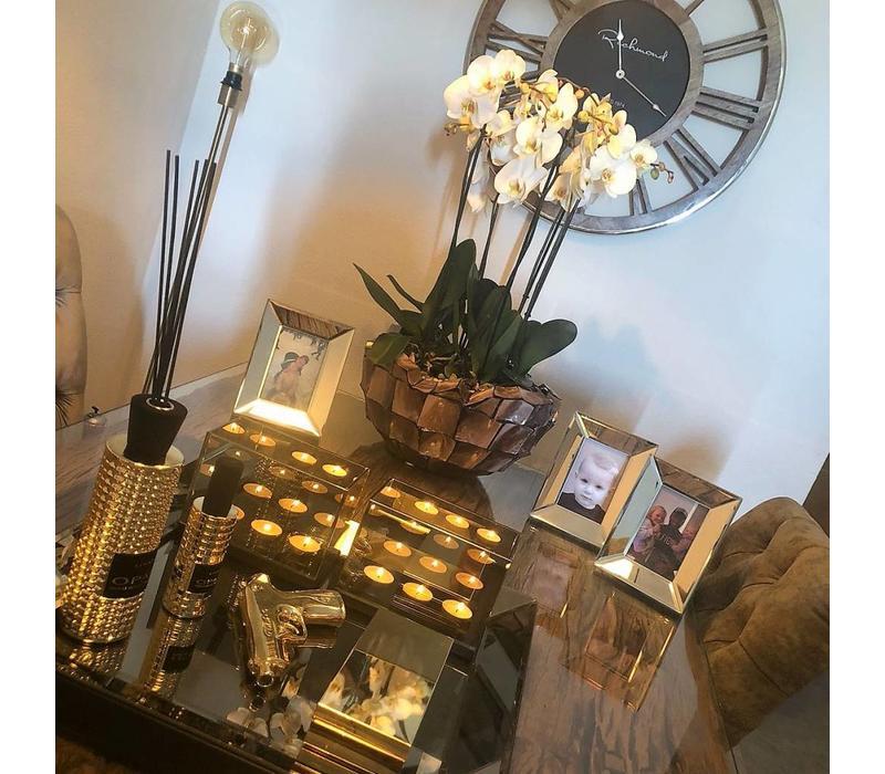 Linari set interieurparfum diffuser, roomspray en kaars - goud Opale