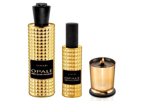Linari Linari set interieurparfum diffuser, roomspray en kaars - goud Opale