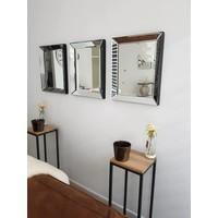 Spiegel met spiegelrand 50x60 cm
