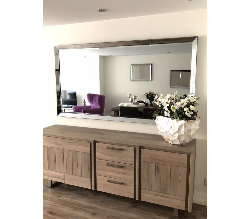Spiegel met spiegelrand - zilver 110x210