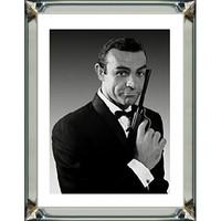 Spiegellijst James Bond Sean Connery  - zilver 70x90