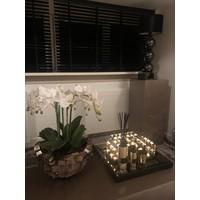 SETPRIJS 2x Lamp met 3 bollen - vierkante voet - antraciet