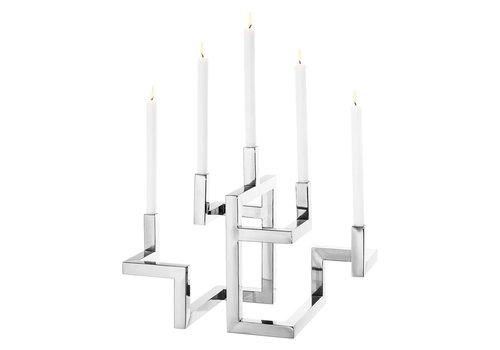Eichholtz EICHHOLTZ Candle holder Skyline kaarsenhouder zilver