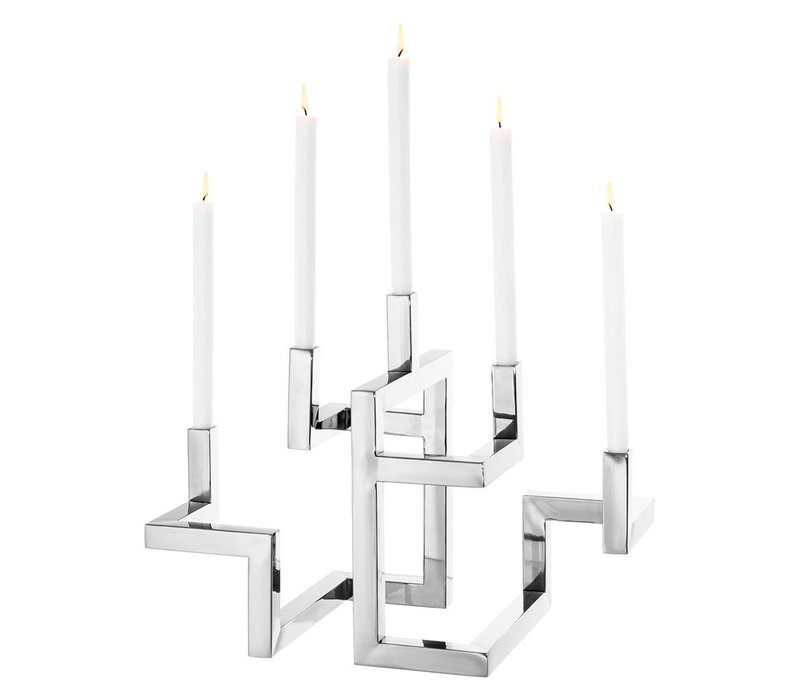 EICHHOLTZ Candle holder Skyline kaarsenhouder zilver