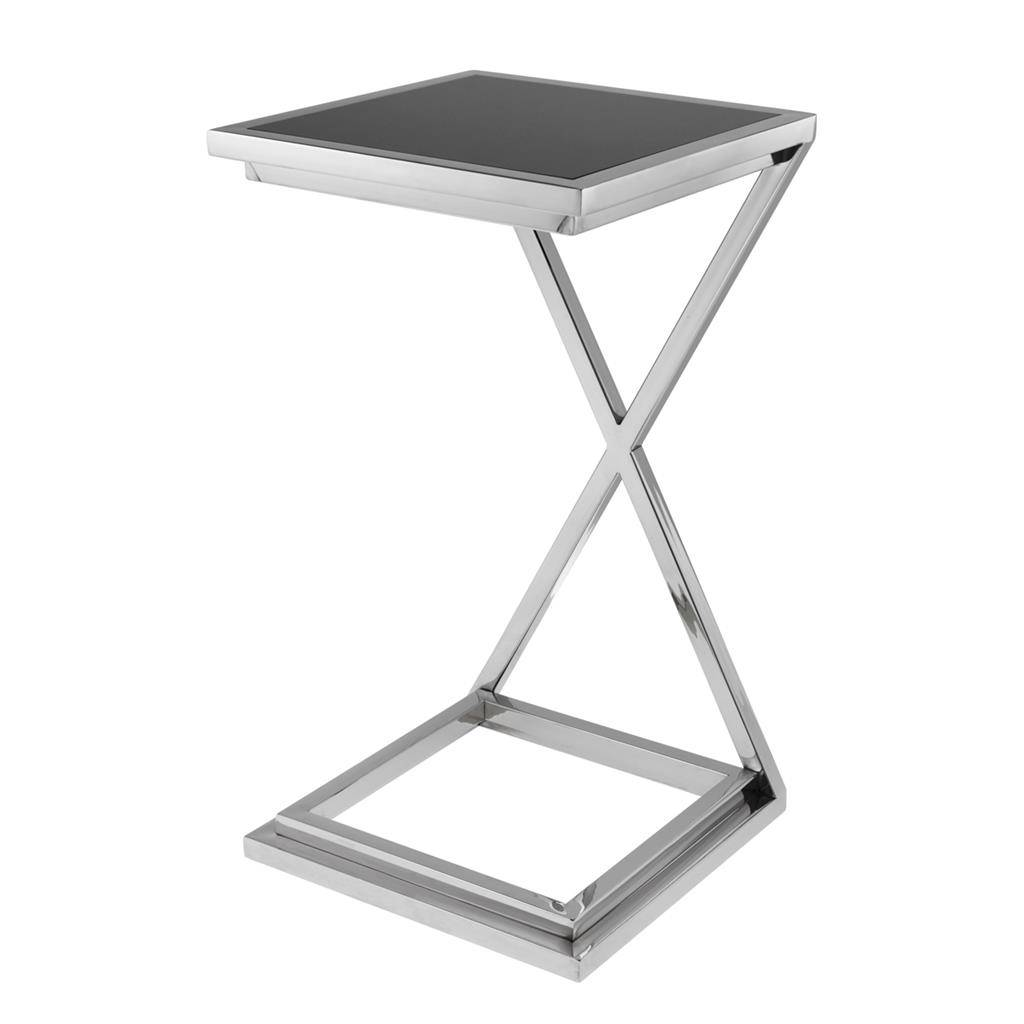 Sidetable Glas Rvs.Eichholtz Side Table Bijzettafel Cross