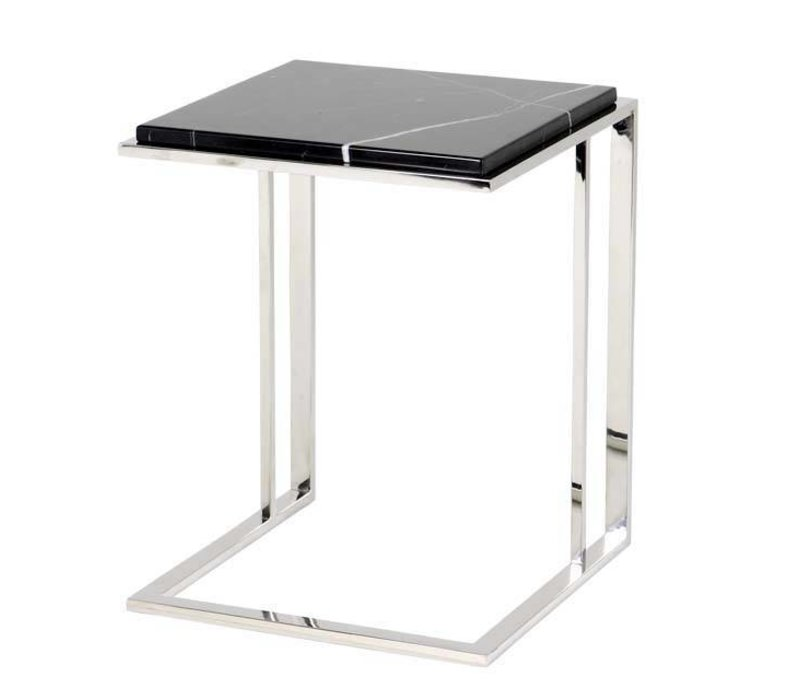 EICHHOLTZ side table bijzettafel Cocktail RVS en marmer