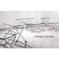 EICHHOLTZ side table bijzettafel Criss Cross (hoog)