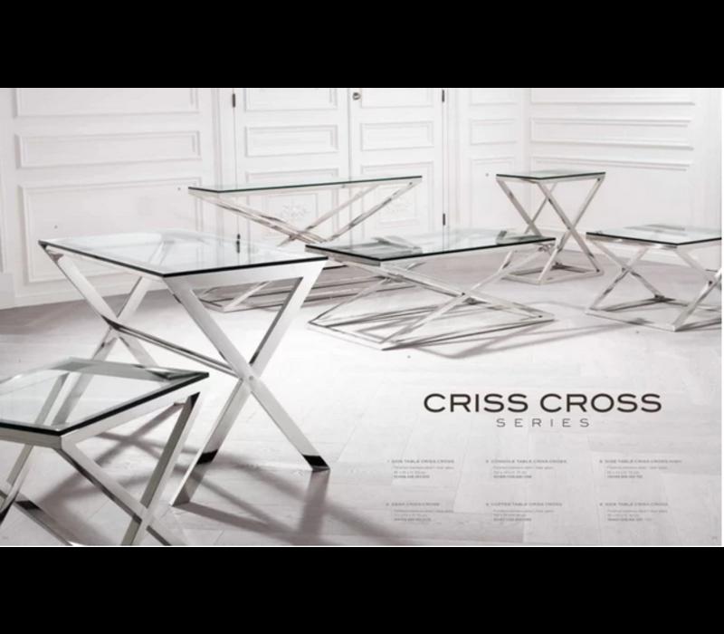 EICHHOLTZ side table bijzettafel Criss Cross vierkant