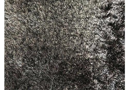 Luxe velours fluweel vloerkleed - Warm Taupe/grey