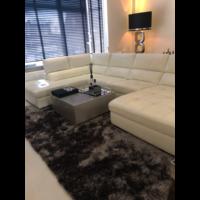 Luxe velours fluweel vloerkleed - Warm Taupe/Grey (N15)