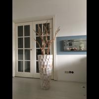 Schelpenvaas wit hoog met ghostwood