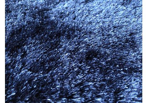 Luxe velours fluweel vloerkleed - Navy Blue - N35