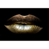 Aluminium Art - Kunstwerk -  Golden Lips