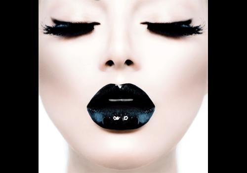 Aluminium Art - Black Lips Closed Eyes