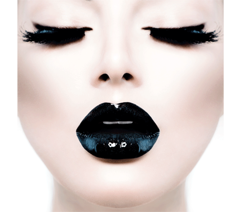 Aluminium Art - Kunstwerk -  Black Lips Closed Eyes