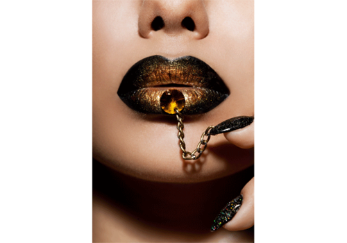Aluminium Art - Golden Lips Chain