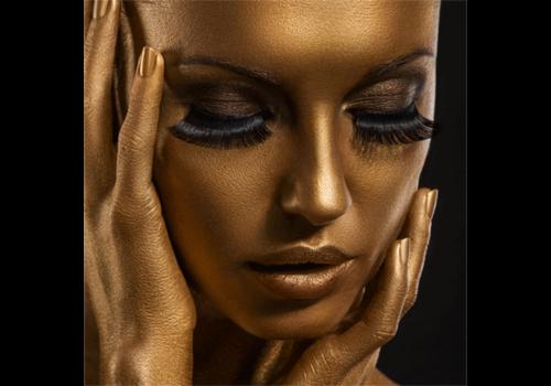 Aluminium Art - Girl with Golden Face