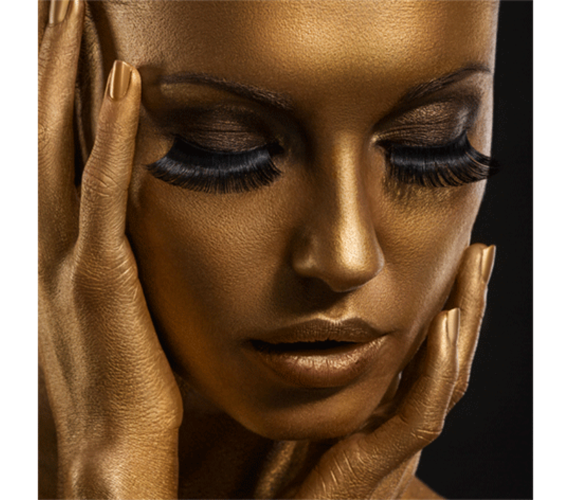 Aluminium Art - Kunstwerk -Girl with Golden Face