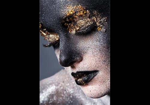 Aluminium Art - Girl with Black Gold Face