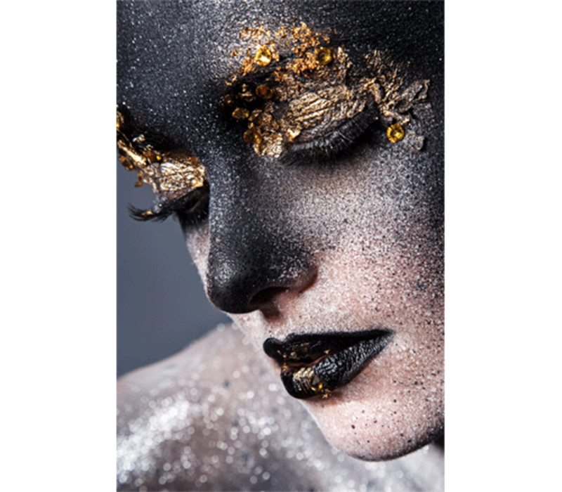 Aluminium Art - Kunstwerk - Girl with Black Gold Face