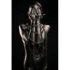 Aluminium Art - Kunstwerk - Black Woman Hands before Face