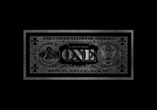 Aluminium Art - One Dollar Zilver