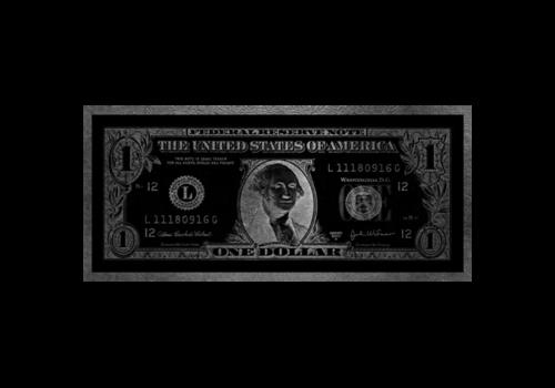 Aluminium Art - Dollar Washington Zilver
