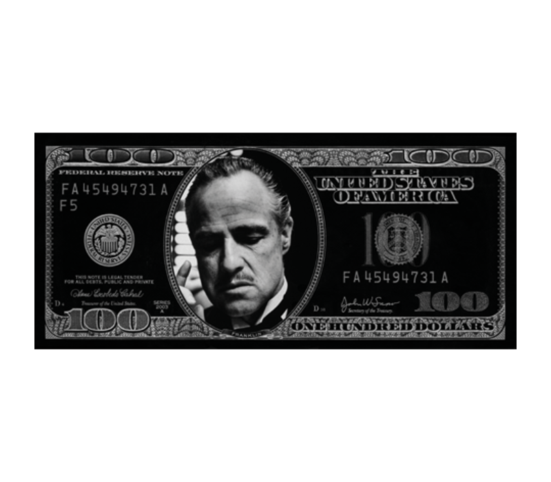 Aluminium Art - Dollar Godfather Zilver