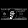 Aluminium Art - Dollar Scarface Zilver