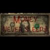 Aluminium Art - Dollar Money Never Sleeps Brown Red