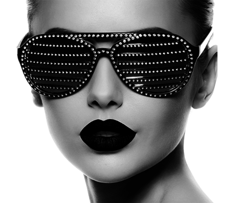 Aluminium Art - Bling Bling Sunglasses black and white