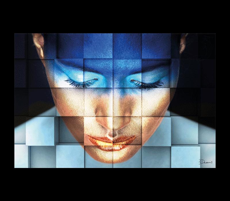 Aluminium Art - Girl Blue