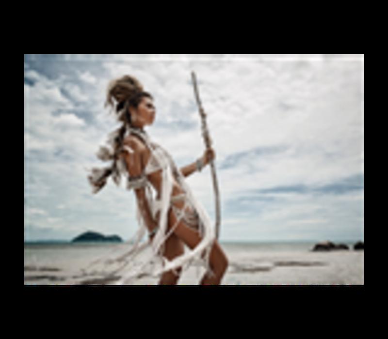 Aluminium Art - Wild Boho Woman at Beach