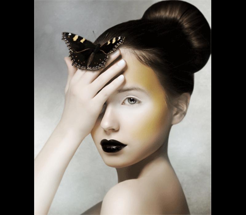 Aluminium Art - Girl With Butterfly