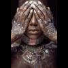 Aluminium Art - Black Woman with Bodyart