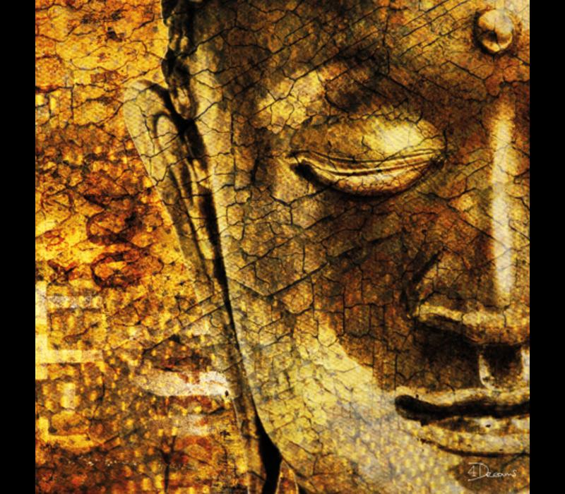 Aluminium Art -  Golden Buddha