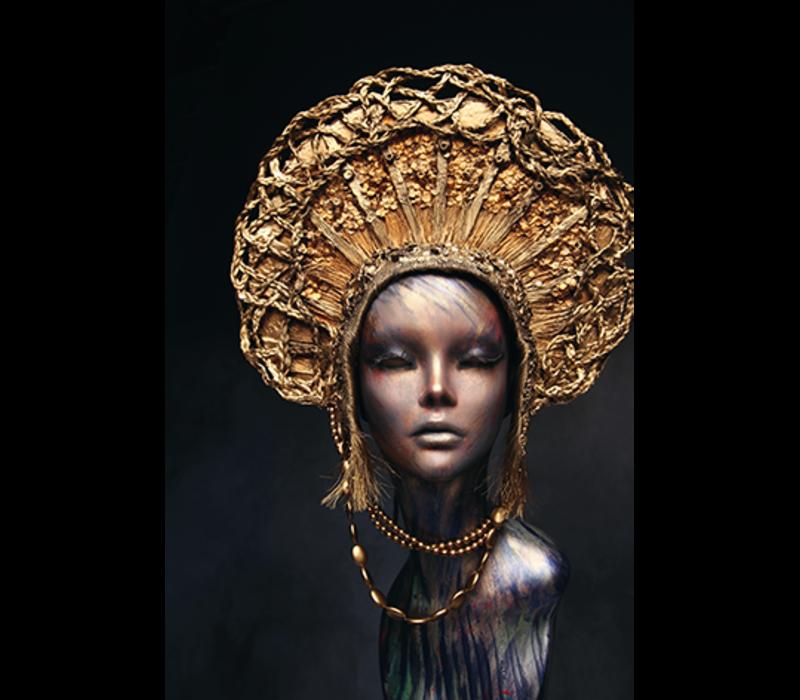 Aluminium Art - Mannequin Golden Head