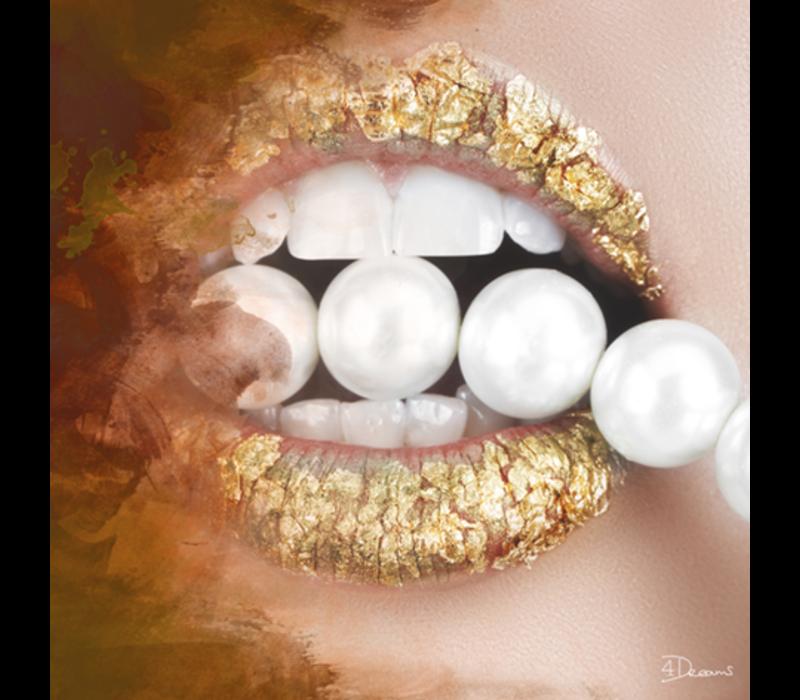 Aluminium Art - Pearls Gold