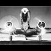 Aluminium Art - Front View of Passenger Airplane
