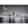Aluminium Art - Airplane Landing New York Night