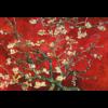 Aluminium Art - Van Gogh Blossom  Red