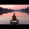 Aluminium Art - Monk at Sunset
