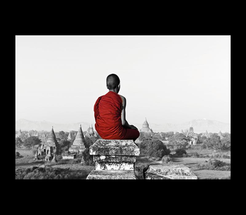 Aluminium Art - Monk Sitting on Temple Top