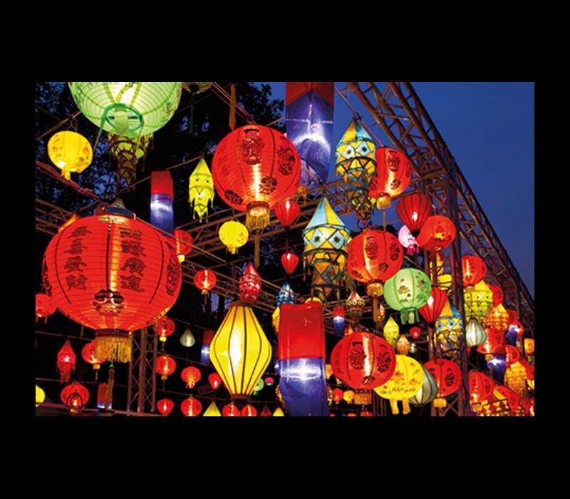 Aluminium Art - Asian Lanterns in Festival