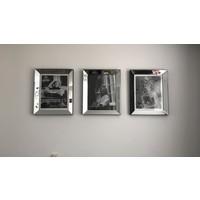 Set 3 fotolijsten 50x60 cm