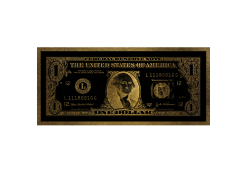 Aluminium Art - Dollar Washington Gold - 200 x 90 cm