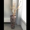 Schelpenvaas bruin hoog met ghostwood