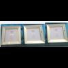 Voordeelset spiegellijsten - 3 fotolijsten zilver 40 x 40 cm